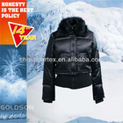 2012 WINTER USA BEBE SHINY FAKE FUR WOMEN SPORT DUCK DOWN JACKET WITH BIG RIB ON BOTTOM