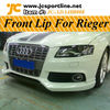 A4 B8 Body Kits Front Lip For Audi Rieger Style