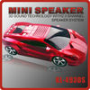 Lamborghini portable mini car speaker with TF card &U-dis