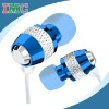 Cute Blue Metal MP3 Earphones for Girls (IMC-EJIPO-0919)