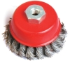 knotted twisted cup wire brush