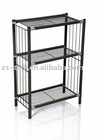black color lacquered steel shoe rack AT076