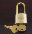 Tri-circle Brass pad lock