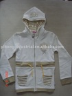 Girl's hoodie L/S zipper coat