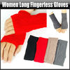 Fashion Knitted Women Long Fingerless Gloves Mittens Autumn Fall Winter Warm Chunky Knit, YFA320A