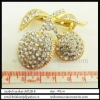 alloy with rhinestones ornament,cherry shape