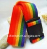 Durable rainbow PP luggage belt with lock