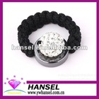 White Crystal woven adjustable paved shamballa rings
