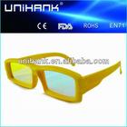 plastic Optical isolation glasses, diffraction glasses
