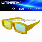 plastic Optical isolation glasses, diffraction glasses