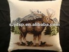 Animal towel embroidery pillows