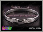 stainless steel bangle with diamond