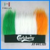 hot selling high quality soccer fans wig for football club logo printing