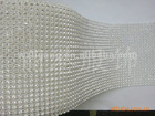 24 lines A RHINESTON mesh net of white color stone