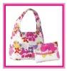 2 Floral Eco Reusable Shopping Bags eco friendly bag