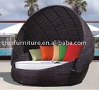 2012 rattan furniture canopy moon day bed