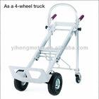 Premium 4 Wheel Platform Sack Trucks Aluminum Frame 120Kg Capacity HT4101