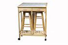 Stock furniture S/3 Breakfast set foldable Trolley
