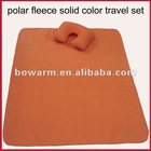 Hot seller polar fleece pillow & blanket travel set