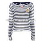 casual round neck long sleeve t shirt for girls