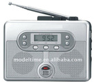 Japan market Mini Radio Cassette Recorder with Alarm Clock