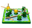 Wooden children toys fishing game