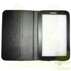 2012 New High Quality Black PU Leather Case for Samsung Galaxy Tab P3100