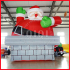 2012 popular outdoor inflatable santa claus on chimmey