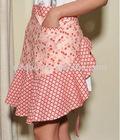 new design cotton lace waist aprons for women