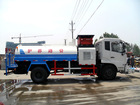 DF high-pressure spraying truck with front-cleaning