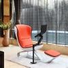 DEMNI Comfy Orange eames chair replica with laptop arm