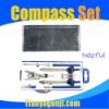 students' zinc alloy bow compass set