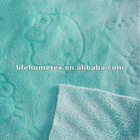 100% Polyester Embossed Coral Fleece