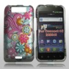 rubberized design hard case for LG Connect 4G ms840