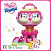cartoon horse with have music and light plastic castle toys