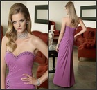 Beautiful Purple A-line Sweetheart Beading Lace Up Mother of Bride Dresses
