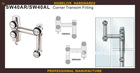 The outdoor swimming pool glass special stainless steel link accessories