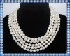 five strand pearl necklace with fancy clasp