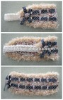Lace pattern Nations wind feather yarn Knitted baby head bands