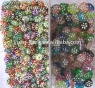 grit gold line flower beads