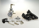 Universal Silvery Auto Fuel Pressure Regulator with gauge