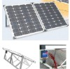 solar system with 80w powerful mono-crystalline foldable solar panel