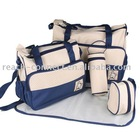 Microfiber Printed 5 set fashion Mummy Baby changing bag