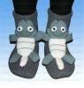3D Knitted home non-skid or non-slip animal acrylic baby socks