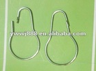 Metal Silver bath shower curtain hook