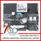 compatible TZe label printer brother p-touch barcode label tape white copper tape brother label