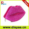 Luxury lip clutch bag with nice faux Swarovski crystals