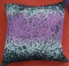 2011 new design of embroidery straggly circle cushion