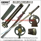 Handmade traditional brown color T10 clay-tempered steel samurai katana sword JS-HS02