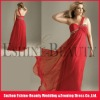 Hot sale red chiffon one shoulder swarovski beaded maternity prom dresses